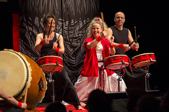 Taiko drummers. Image by Fia Forever Photography