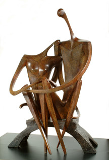 LOVERS by Leon Bronstein, Bronze