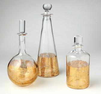 cross hatch decanters