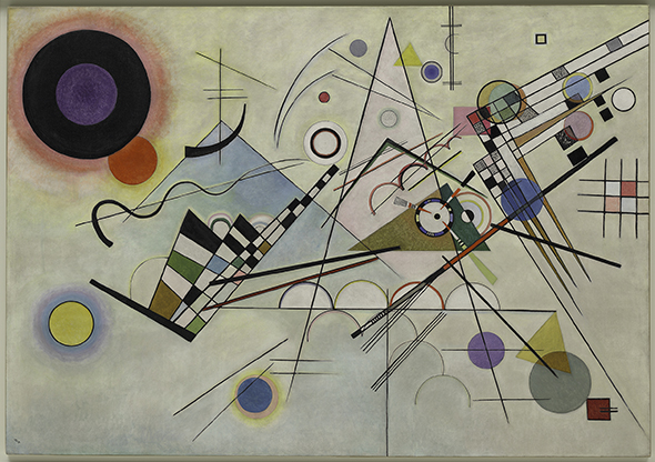 Vasily Kandinsky (1866-1944); Composition 8, July 1923; Komposition 8 Oil on canvas; 55 1/8 x 79 1/8 inches (140 x 201 cm); Solomon R. Guggenheim Museum, New York; Solomon R. Guggenheim Founding Collection, By gift; 37.262