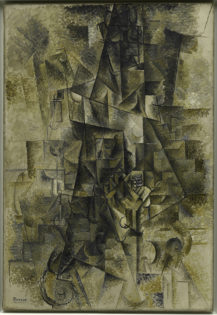 ablo Picasso (1881-1973); Accordionist, Céret, summer 1911; L'accordéoniste; Oil on canvas; 51 1/4 x 35 1/4 inches (130.2 x 89.5 cm); Solomon R. Guggenheim Museum, New York; Solomon R. Guggenheim Founding Collection, By gift; 37.537
