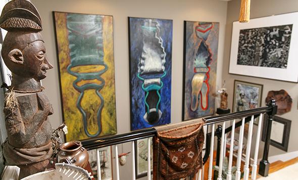 Garter Belt Triptych by Elyse Defoor